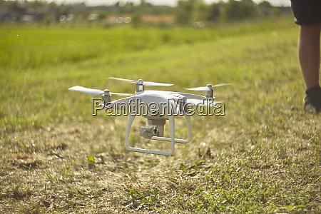 drone dji phantom in action