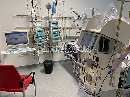 intensive care unit at the hospital