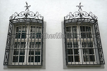 two barred windows