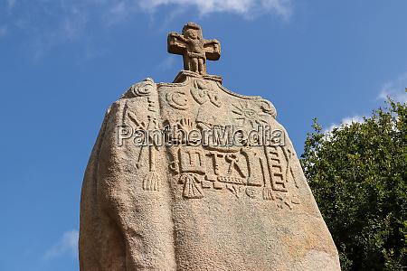 christianized menhir of saint uzec in