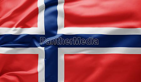 waving national flag of norway