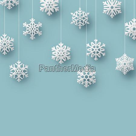 christmas origami snowflake card template eps