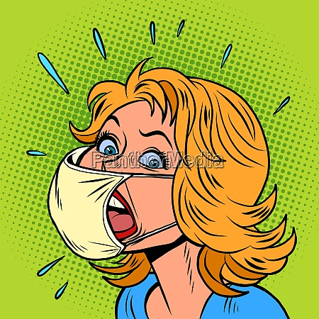 female patient coughs coronavirus infection