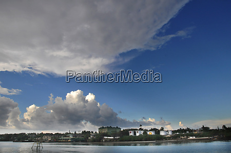 clouds over bohol in the philippines