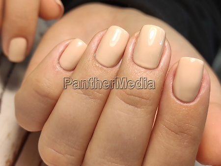 hands care hand with pastel nails