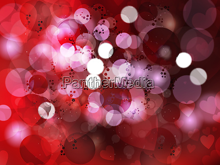 heart blurred lights on colorfull background