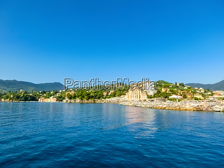 travel view of town rapallo at