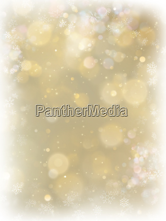 abstract christmas gold background with white