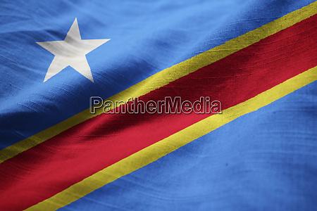 closeup of ruffled democratic republic of