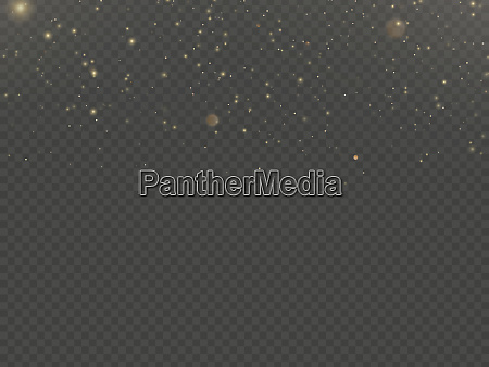 glitter particles overlay effect gold glittering