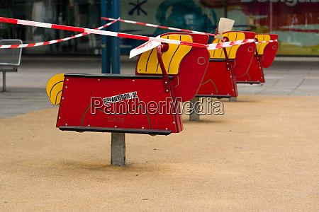 police barrier at the playground