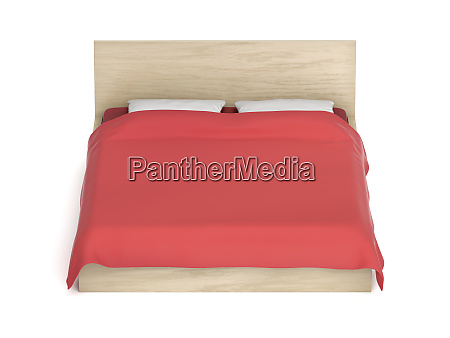 comfort bed on white background