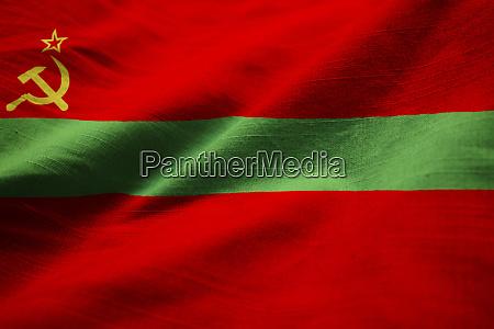 closeup of ruffled transnistria flag transnistria