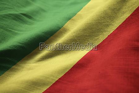 closeup of ruffled republic of the