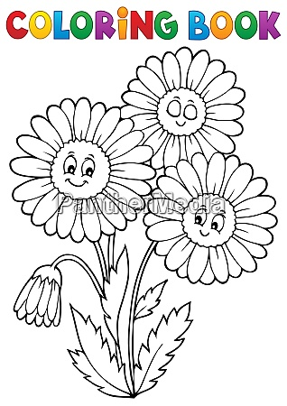 coloring, book, daisy, flower, image, 1 - 28315062