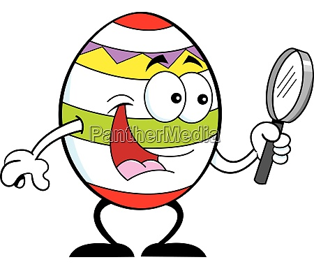 cartoon illustration of a easter egg