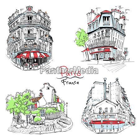 typical parisian housees france