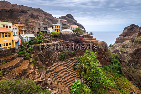fontainhas village and terrace fields in
