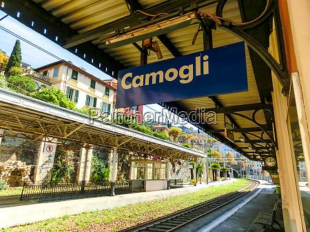 camogli train station at italy