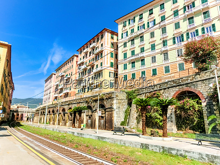 camogli train station at italy