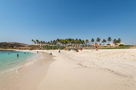 oasis beach in salalah oman indian