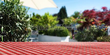sun terrace at home