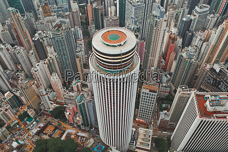 aerial view of an iconic circular