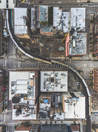 aerial view of empty streets due