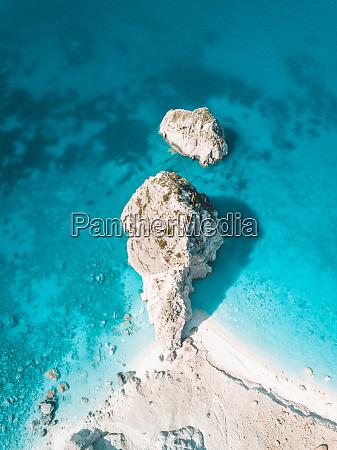 aerial view of akra keri laganas