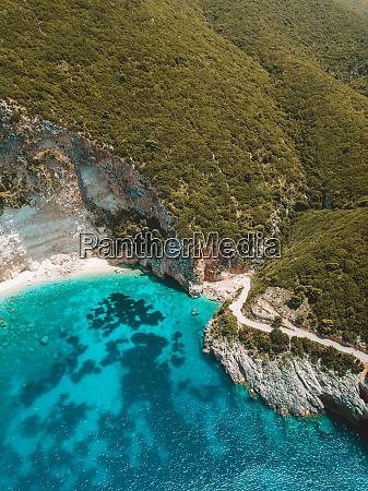 aerial view of pelagos zante greece