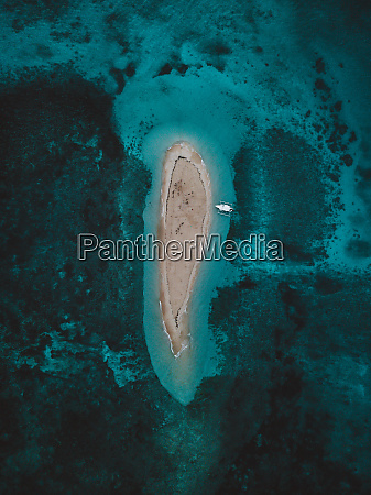 aerial view of naked island philippines