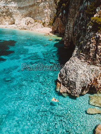 aerial view of pelagos zante greece