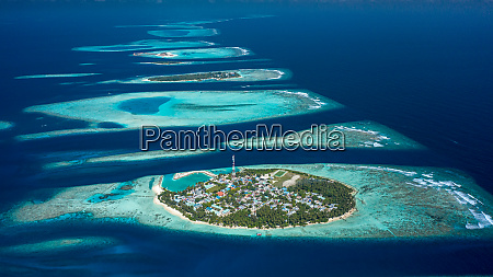 aerial view of local island felidhoo