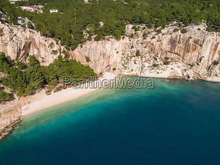 aerial view of nugal beach near