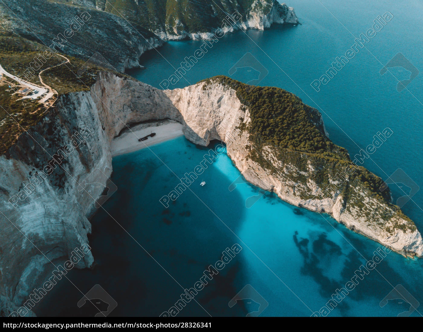 aerial, view, of, navagio, beach, , zante, - 28326341