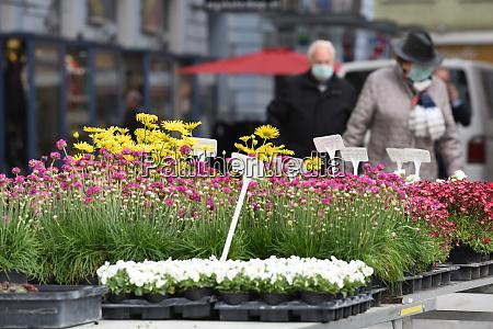wochenmarkt in gmunden oberoesterreich OEsterreich