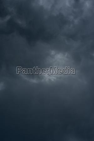 dark black clouds in the sky
