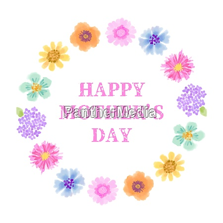 mothers day greeting card with colorful