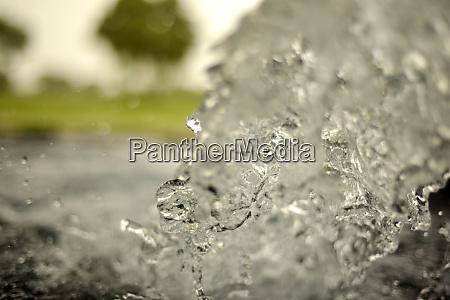 running tubewell fresh water in fields