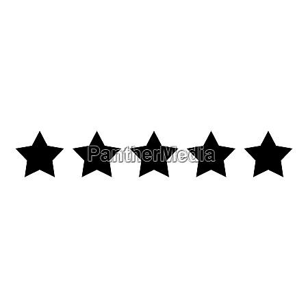 five stars 5 stars rating concept