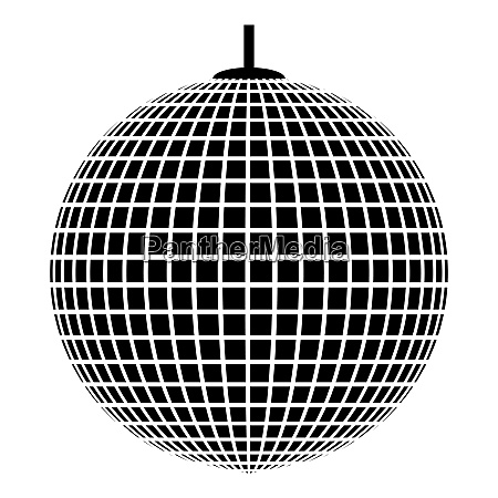 disco sphere suspended on line rope