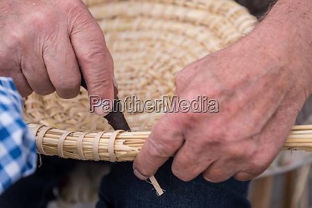 handmade basket weaving handicrafts
