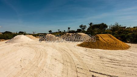 sand shingle rubble