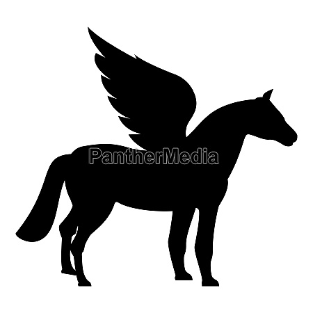 pegasus winged horse silhouette mythical creature