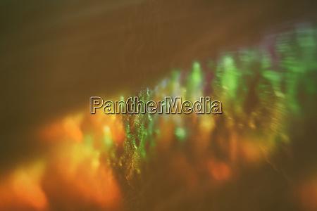 bursts of multicolored paints light leaks