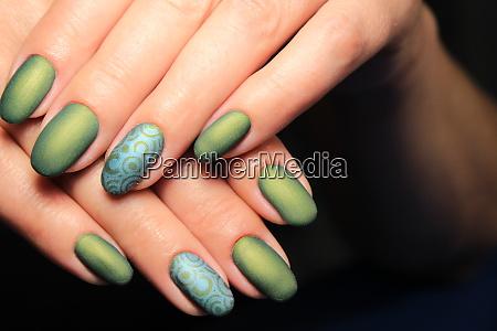 glamorous manicure of nails