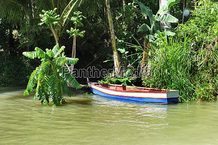 boat on the loboc river in