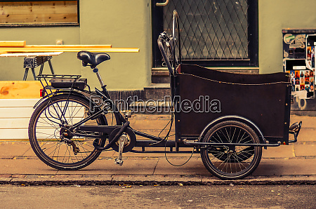 tricycle bicycle bike with a basket