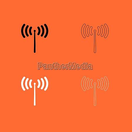 radio signal black and white