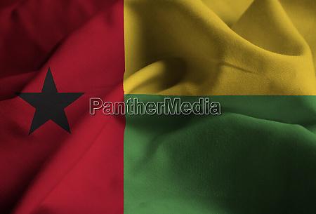 closeup of ruffled guinea bissau flag